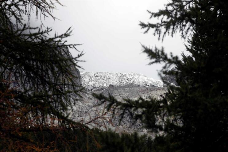 Glaciar do Monte Branco está a derreter