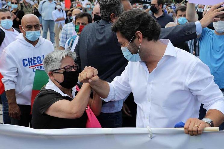 Maria Vieira e André Ventura