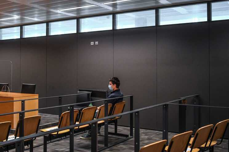 Rui Pinto na primeira sessão do julgamento