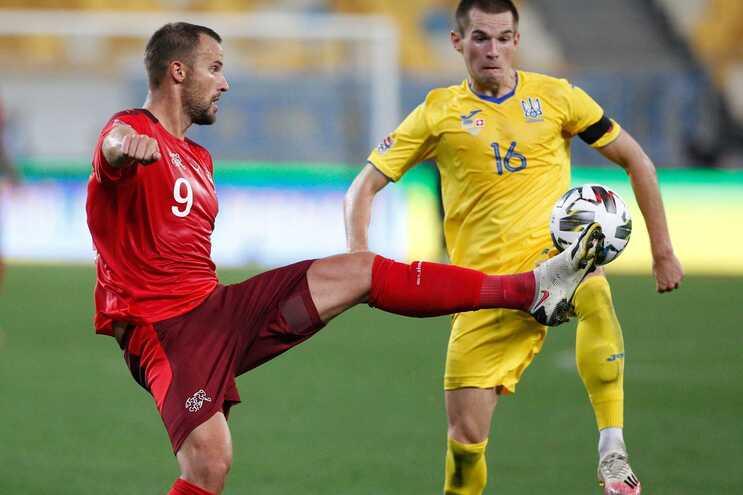 Seferovic marcou o golo da Suíça na derrota frente à Ucrânia