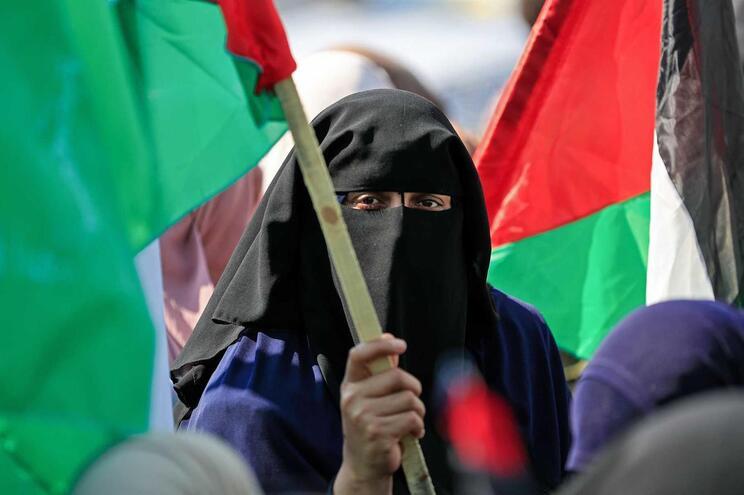 Apoiante do grupo rebelde Hammas