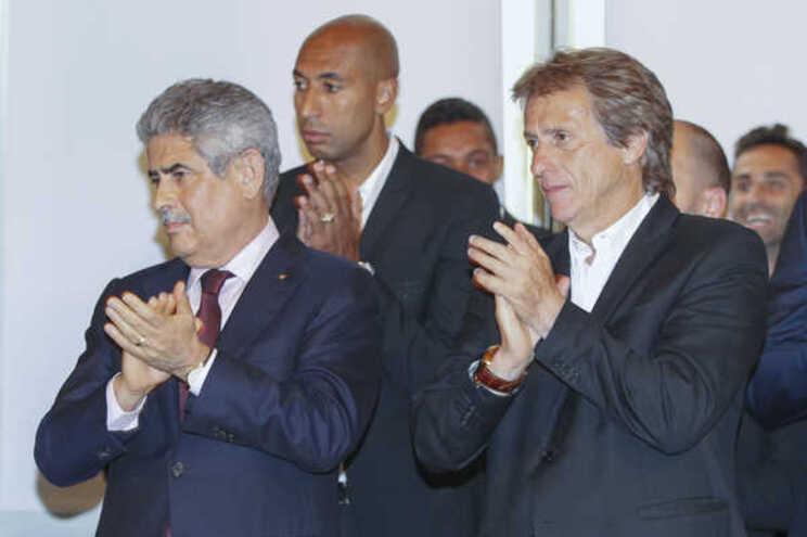 Luís Filipe Vieira e Jorge Jesus