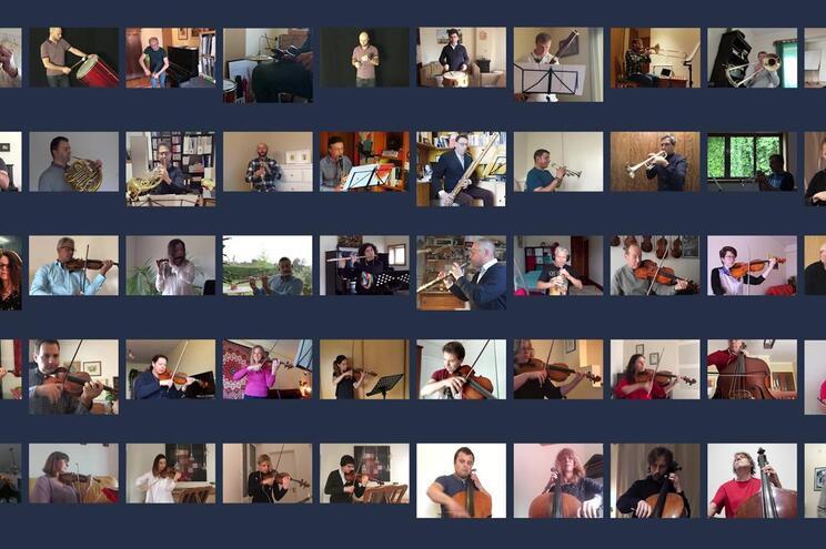 Músicos gravaram as interpretações individuais a partir da casa de cada um