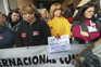 Vigília das trabalhadoras da antiga Triumph, em Loures