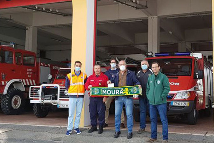 Núcleo do Sporting de Moura deu donativo aos bombeiros locais