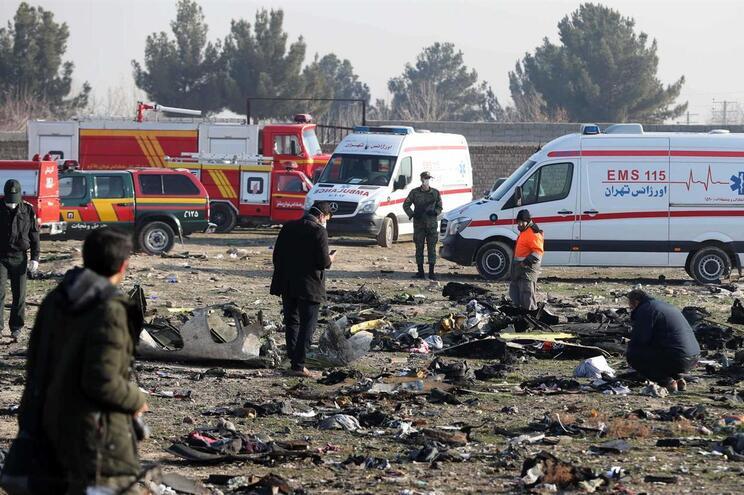 Local da queda do avião ucraniano, em Teerão