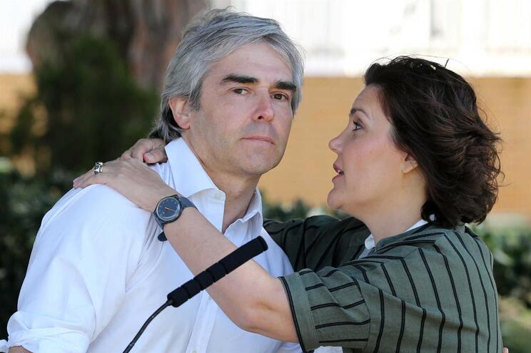 O candidato Nuno Melo e a presidente do CDS-PP, Assunção Cristas