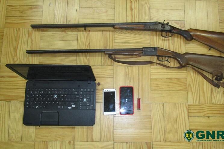 Armas apreendidas durante a investigação