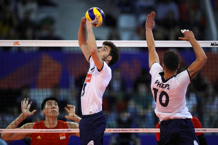 Seleção portuguesa venceu a China na Liga das Nações de voleibol