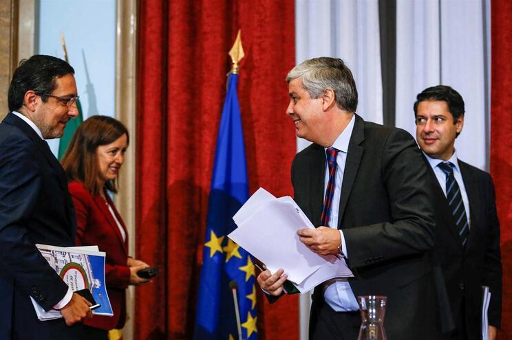 O ministro das Finanças, Mário Centeno, na conferência de imprensa sobre a proposta do Orçamento do Estado