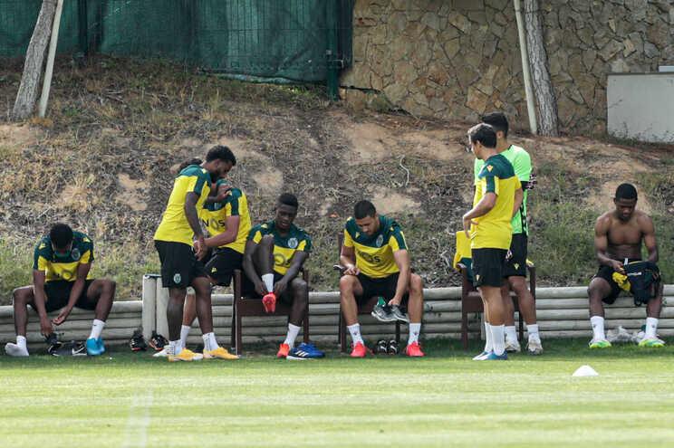 Equipa do Sporting em estágio no Algarve