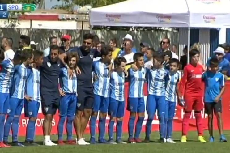 Crianças do Málaga dão lição aos pais em jogo frente ao Sporting