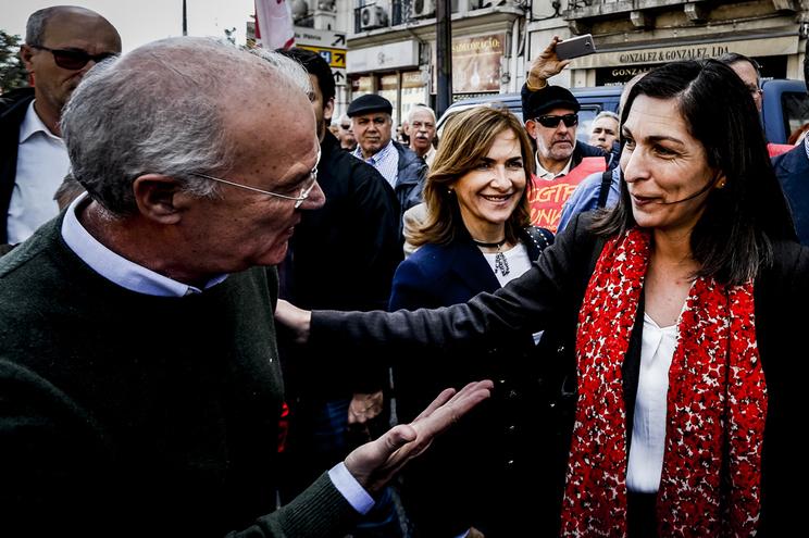 Arménio Carlos e Ana Catarina Mendes