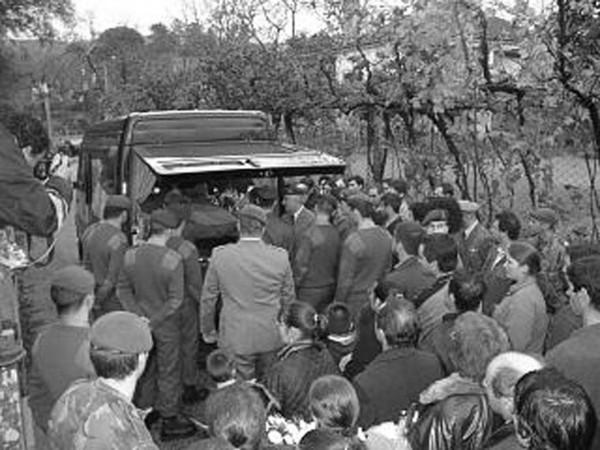 Funeral de Diogo Miguel Dantas Ribeirinho, militar vítima do atentado de Bali, na Indonésia. em Arcos