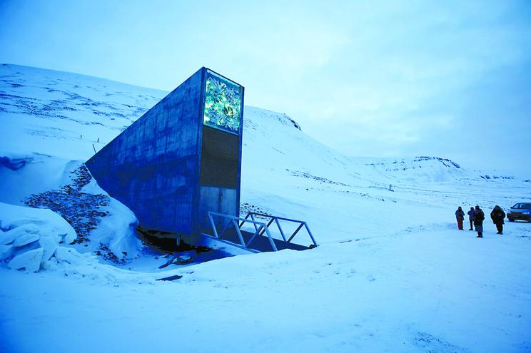 O banco mundial de sementes do Governo norueguês fica nas ilhas Svalbard