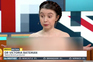 Professora despe-se na TV em protesto contra o Brexit