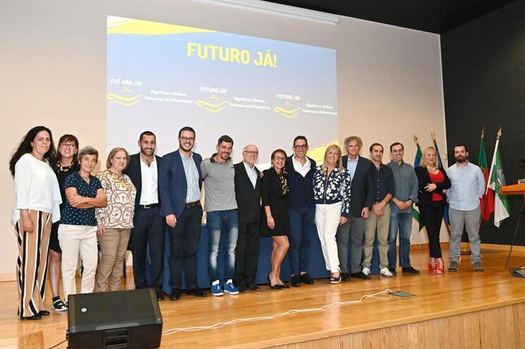 """Candidatos da """"Futuro Já"""" na apresentação da lista"""