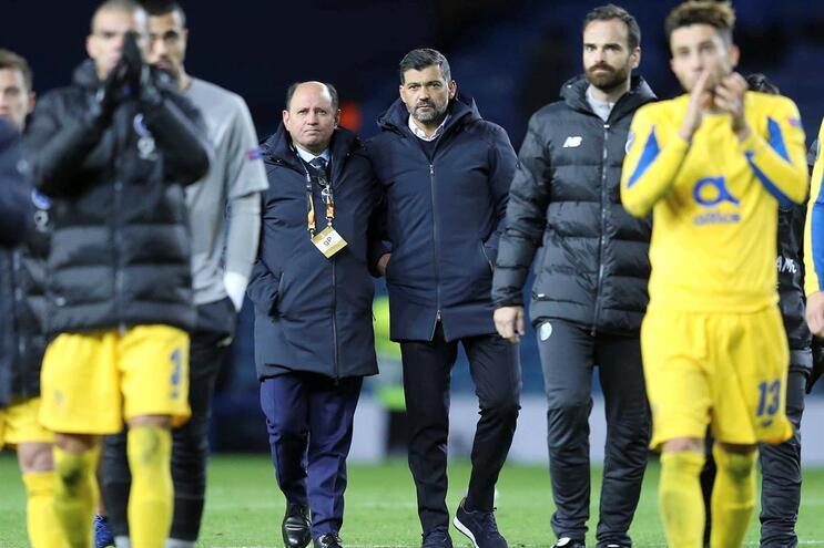 Conceição e o F.C. Porto com retirada simples em Glasgow