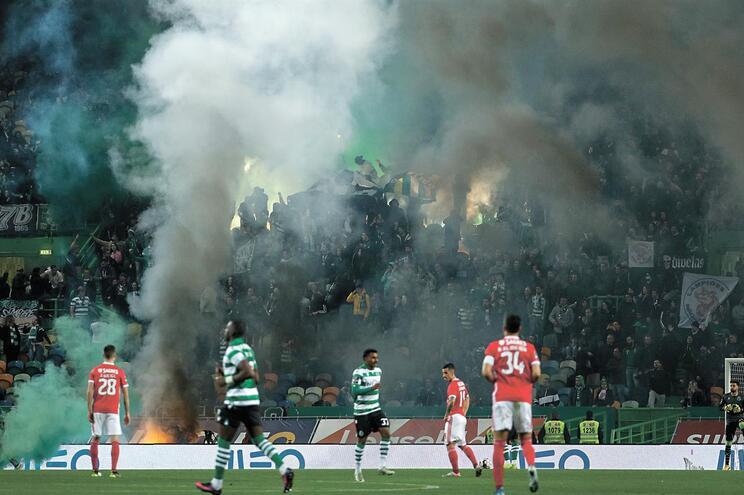 Incidentes no Sporting-Benfica