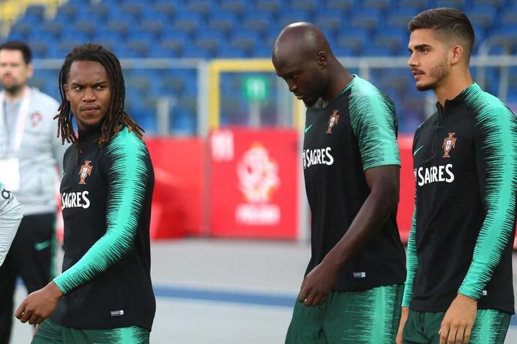 Treino da seleção portuguesa na Polónia