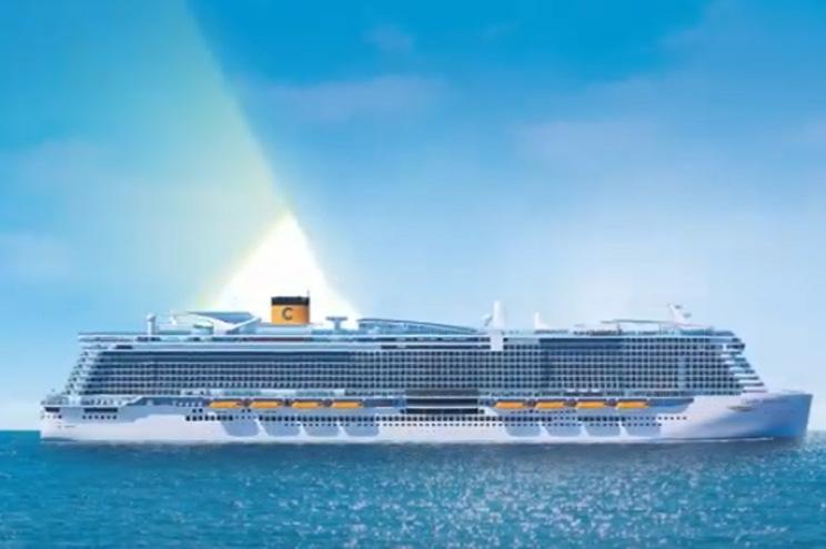 Imagem promocional do navio cruzeiro Costa Smeralda