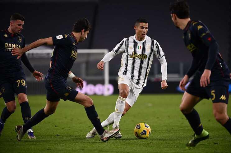 Cristiano Ronaldo entrou antes do prolongamento