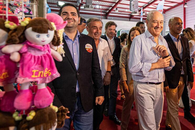 O presidente do PSD, Rui Rio, visita a 40.ª edição da AGRIVAL