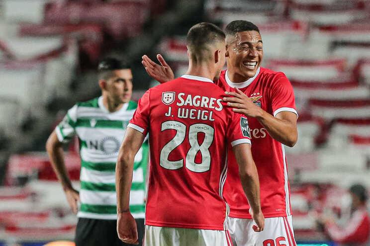 Benfica venceu com um golo de Vinícius aos 88 minutos