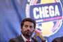 André Ventura anunciou este domingo, em Leiria, a recandidatura à liderança do Chega