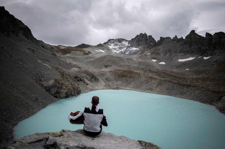 Glaciar de Pizol, na Suíça, derreteu