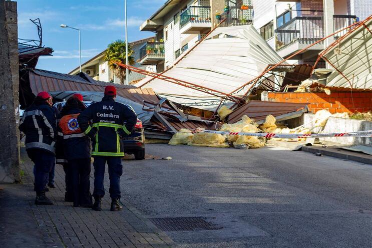 Coimbra foi distrito com mais danos devido ao vento forte na segunda-feira