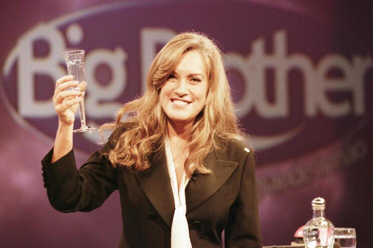 Teresa Guilherme na primeira edição do Big Brother, há 20 anos