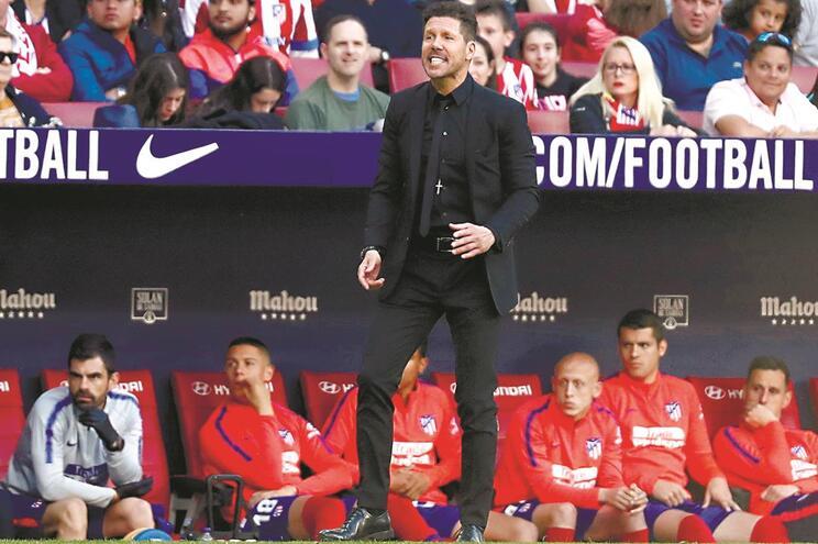 Diego Simeone é treinador dos colchoneros desde 2011/12 e com muito sucesso