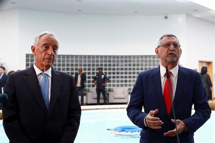 O Presidente da República de Portugal, Marcelo Rebelo de Sousa, e o Presidente da República de Cabo Verde