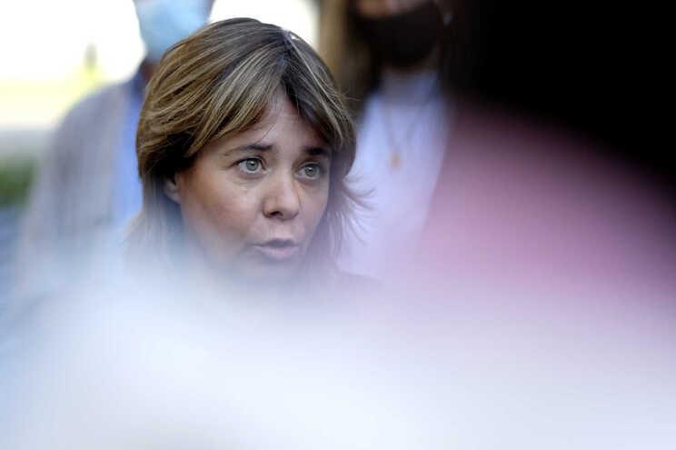 A coordenadora do Bloco de Esquerda, Catarina Martins