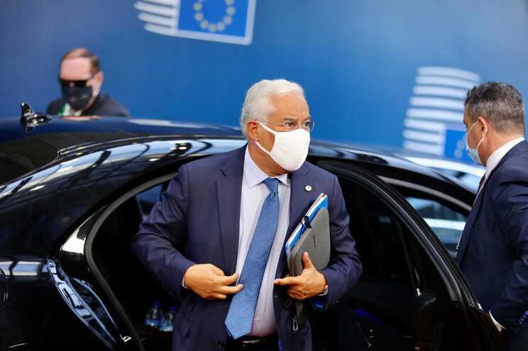António Costa à chegada ao Conselho Europeu