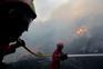 O incêndio circundou a zona industrial de Alijó e os operacionais conseguiram fazer a proteção desta