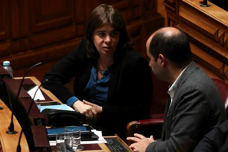 Deputados Catarina Martins e Pedro Filipe Soares