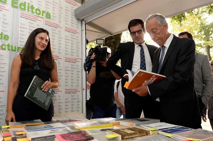 Marcelo Rebelo de Sousa visitou a Feira do Livro do Porto