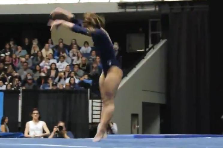 Ginasta consegue nota máxima com acrobacia espantosa