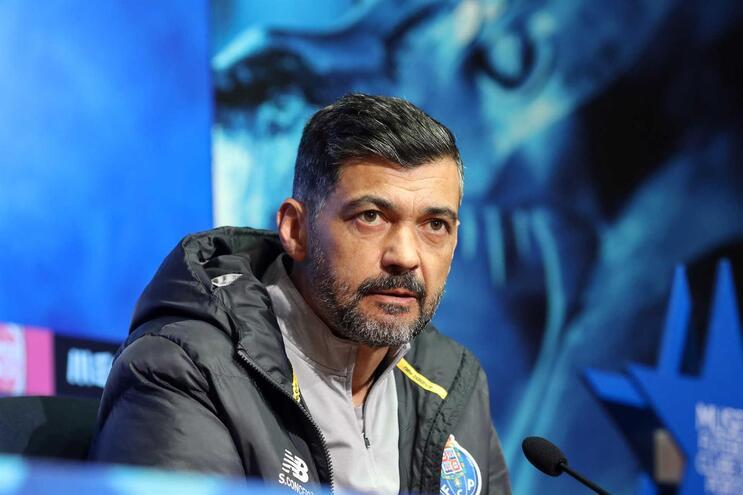 O treinador do F. C. Porto, Sergio Conceição