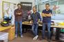Micael Couceiro (ao centro), Samuel Pereira e André Araújo são sócios na Ingeniarius