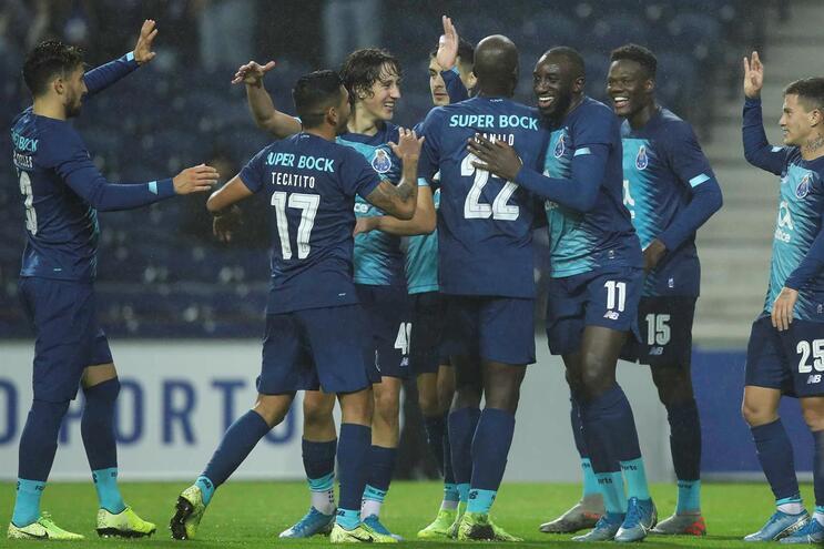 O onze do F. C. Porto para o jogo com o Belenenses SAD