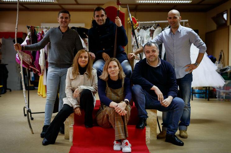 Carlos, Cláudio e Cristiano Coelho (em, cima), Cristina Ferreira, Yvonne Machado e Rui Pinheiro (em baixo)