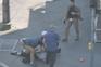 Momento da detenção do homicida, na cidade de Renens