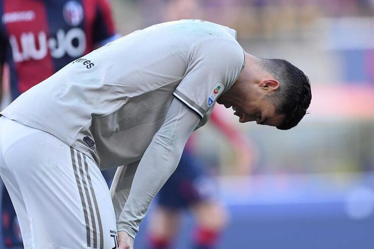 Ronaldo está em risco para o jogo frente ao Nápoles