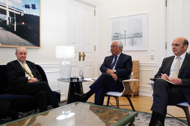 Rui Rio esteve, esta quarta-feira à tarde, com António Costa e  o ministro da Economia, Pedro Siza Vieira
