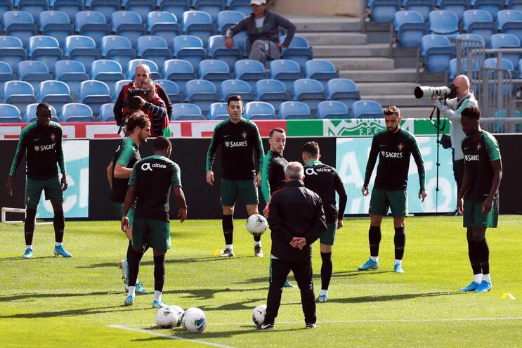 Treino da seleção de Portugal para o jogo contra a Lituânia