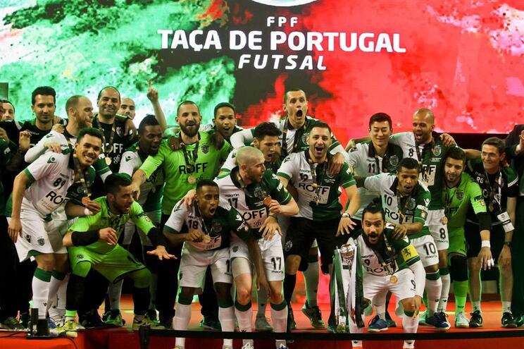 Sporting bate Fabril e conquista sexta Taça de Portugal em futsal