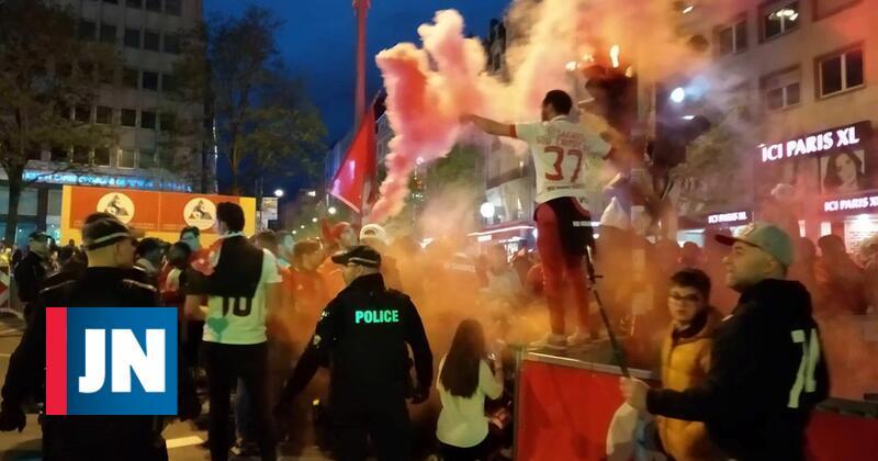 De Paris a Genebra, benfiquistas festejaram o título
